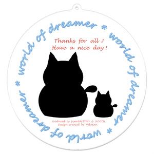 カラーセラピー 色彩療法 ホリスティック 光 音 周波数 夢の森 ほっこり 癒し系 すっきり スタイリッシュ 猫 family 親子 アクリルキーホルダー