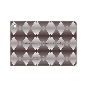 カラーセラピー 色彩療法 ホリスティック 光 音 周波数 すっきり スタイリッシュ 菱形 グラデーション ダイヤ柄 passholder 定期券 パスカバー カードケース