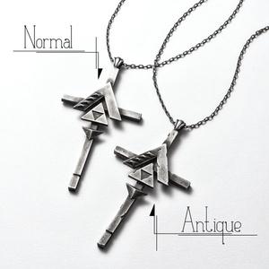tria▽△cross necklace【完全受注生産】