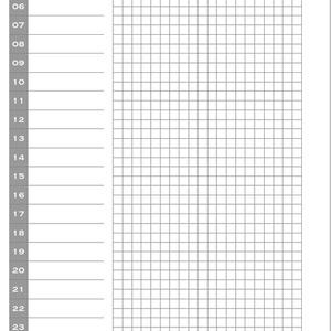 システム手帳リフィル ミニ6 デイリー フリー
