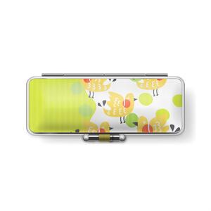 とりりんご green×yellow - 印鑑ケース
