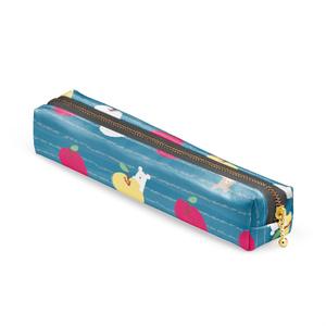 くまりんご ペンケース blue