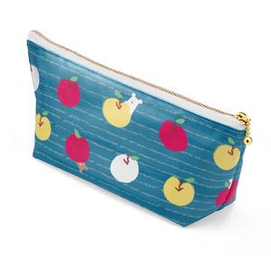 くまりんご ポーチ blue