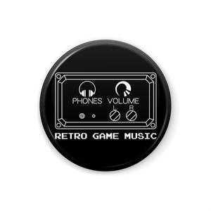 RETRO GAME MUSIC〜レトロゲームミュージック缶バッジ 32mm