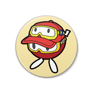 プーカキャップを被るプーカちゃん缶バッジ(タイプB/38mm)