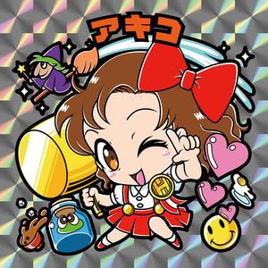 【レゲ★娘れ】サイキック5のアキコ〜ビックリマン風自作キラキラシール/裏書きあり/送料込み