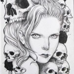 オリジナル鉛筆原画 「Death3」 2L判