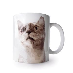 猫マグカップ びっくりキュー