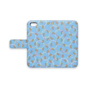 マッカチン雪輪小紋(水色)iPhoneカバー