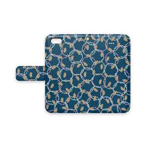 プードル雪輪小紋(藍)iPhoneカバー