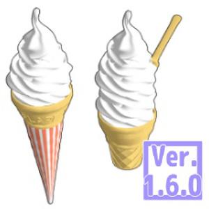 3D ソフトクリーム (クリスタ1.6.0~・コミスタ用) アイス