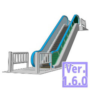 3D エスカレーター(クリスタ1.6.0~・コミスタ用)背景