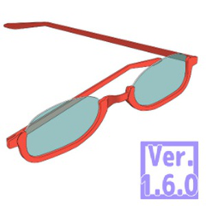 3D アンダーリム眼鏡(クリスタ1.6.0~・コミスタ用)メガネ サングラス