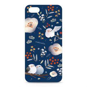 iPhoneケース「エナガと白椿」