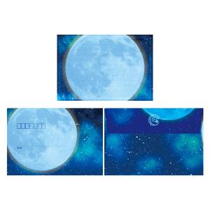 レターセット【青い月】