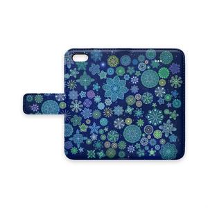 ステンドグラス微生物手帳型iPhoneケース