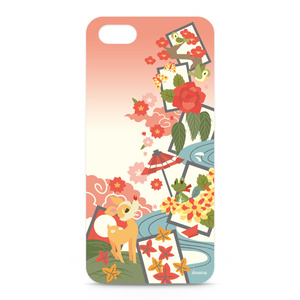 iPhone5ケース(花札柄)