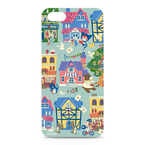 iphone5ケース(ドールハウス柄)