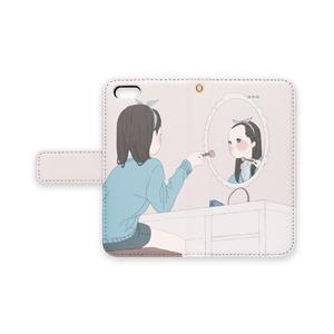 手帳型iPhoneケース/ストラップホールあり/メイクアップ