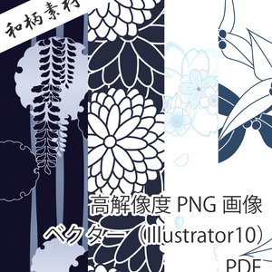 和柄素材 浴衣 【PNG画像/ベクター/PDF】