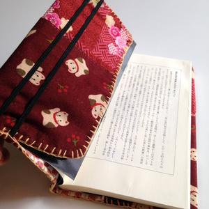 新書用ブックカバー(和花柄&招き猫)