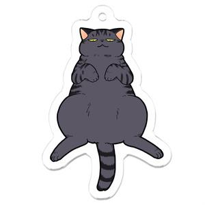 おっぴろげ灰猫アクキー
