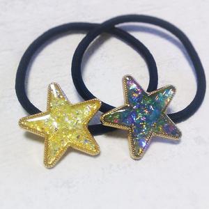 きらきら星のヘアゴム(全2色)