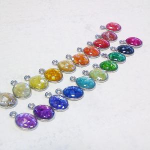 カラーシェルシンプルネックレス(お好きなお色をお選び下さい。
