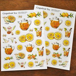 残少◆マスキングシール-Grapefruit Tea