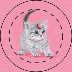 【雑貨】缶バッジ:ゆにゃんこ/ユニャコーン3:アポロ