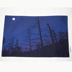 ドット絵ランチョンマット・月夜の樹木