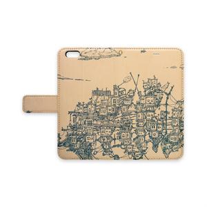 街の旅 [手帳型iPhoneケースーストラップ穴あり]