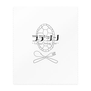 ラテシンメガネ拭き - ラテシンロゴver