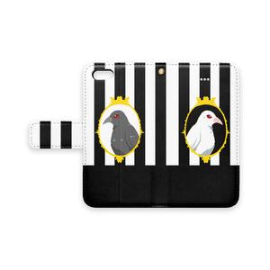 【手帳型iPhoneケース】Contrust crow