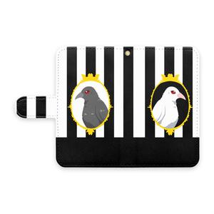 【手帳型Androidケース】Contrust crow