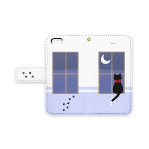 【手帳型iPhoneケース】まどねこ(夜空)