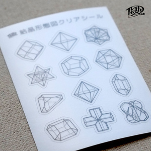 結晶形態図クリアシール