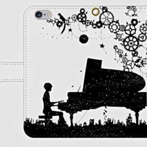 PiANo Heart iPhone6/6S 手帳ケース