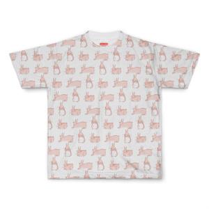 モカ全面Tシャツ(白)