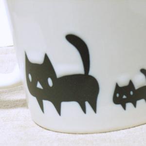 黒ネコ親子マグカップ