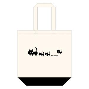 黒ネコ親子トートバッグ