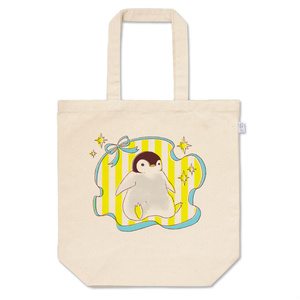 おでかけ子ペンギンのトートバッグ(イエロー)