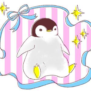 おでかけ子ペンギンのトートバッグ(ピンク)