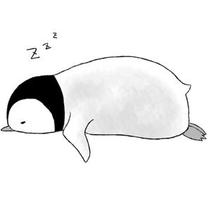 おひるね子ペンギンのトートバッグ