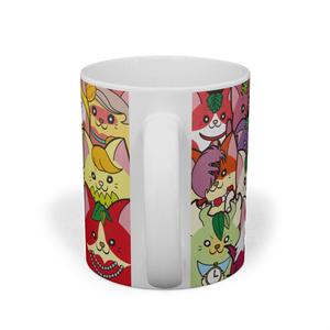 フルーツ猫マグカップ 密集