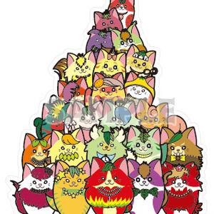フルーツ猫 猫タワーBigステッカー