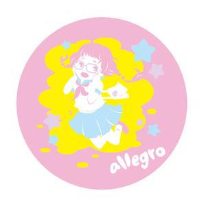 allegro 缶バッジ