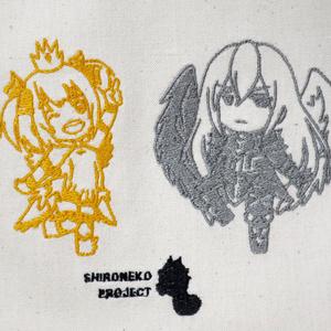 【白猫プロジェクト】マール&ガレア刺繍エコバッグ