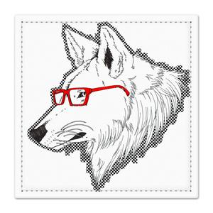 赤いメガネの狼