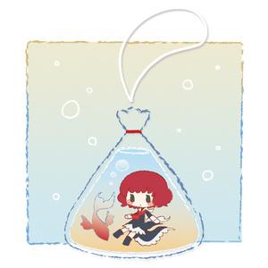 梓ちゃん金魚すくいキーホルダー